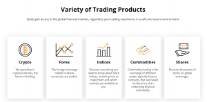 EU-Crypto Bank variety of trading products